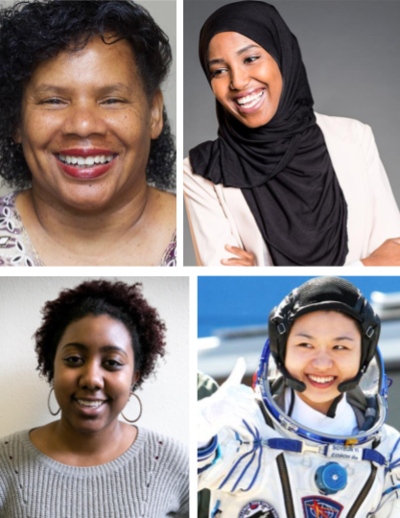Science on Screen presenters (clockwise) Monique Jordan, Asha Isaac, Soyeon Yi, Jaleesa Trapp